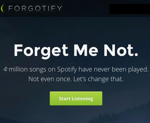 Click to Listen to Forgotify